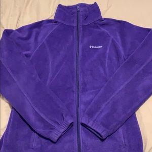 Purple Columbia Full Zip Fleece